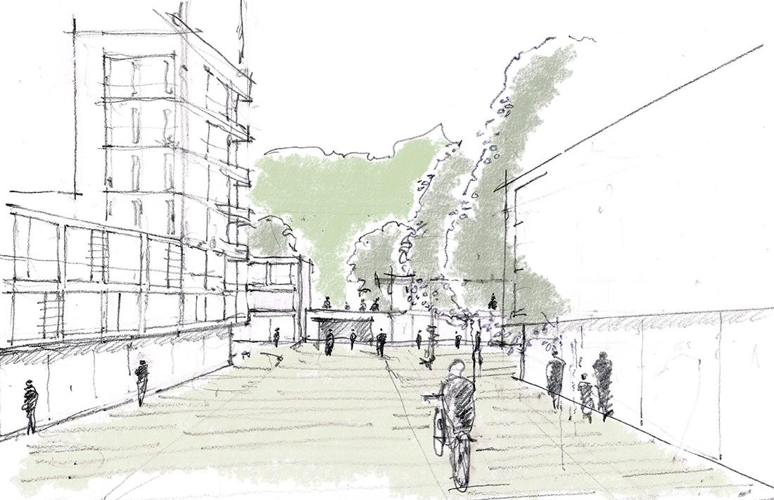 01_Planegg-Skizze_Thomas Hammer Architekten/grabner + huber landschaftsarchitekten