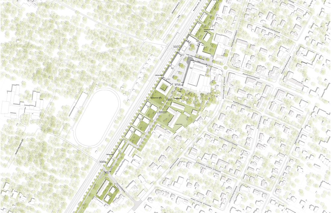 02_Planegg-Lageplan_Thomas Hammer Architekten/grabner + huber landschaftsarchitekten