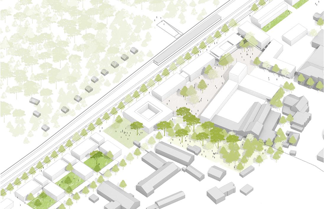 03_Planegg-Isometrie_Thomas Hammer Architekten/grabner + huber landschaftsarchitekten