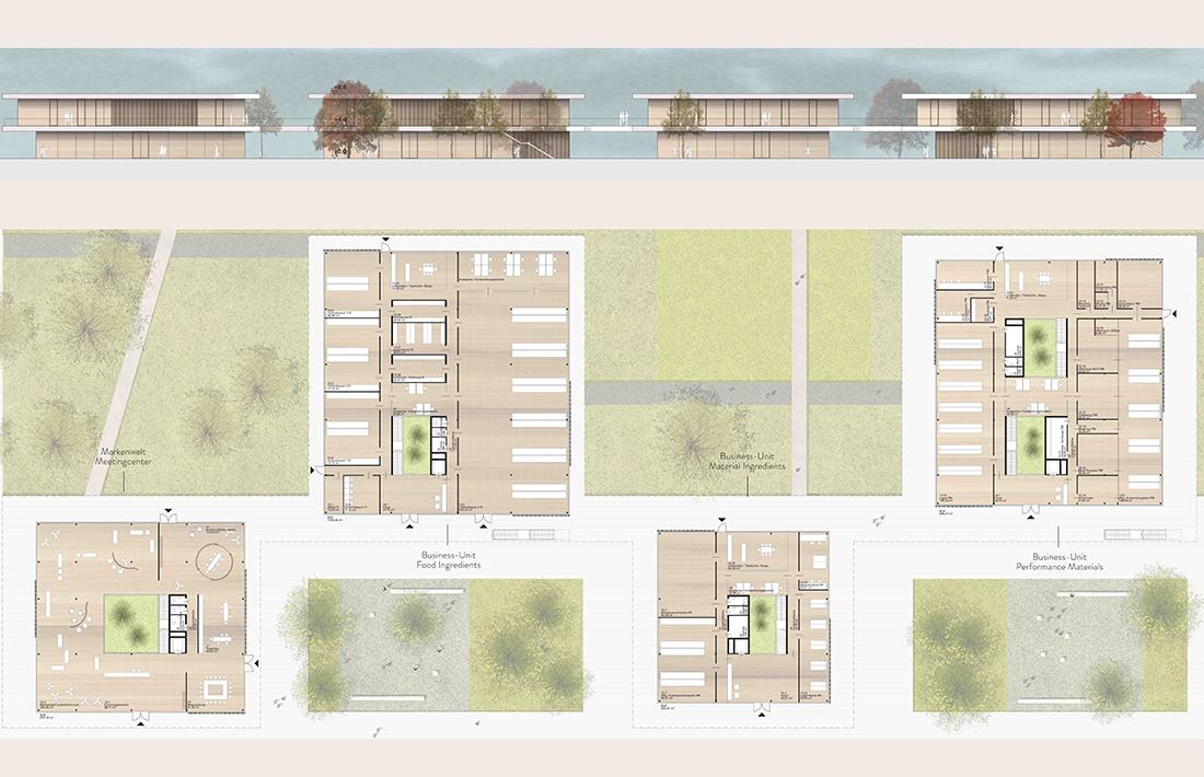 02_BUD-Grundriss-Ansicht_SWAP Architekten/ Riebenbauer Design/Raumposition/ el:ch landschaftsarchitekten/ B + G Ingenieure/ Ewt Ingenieure