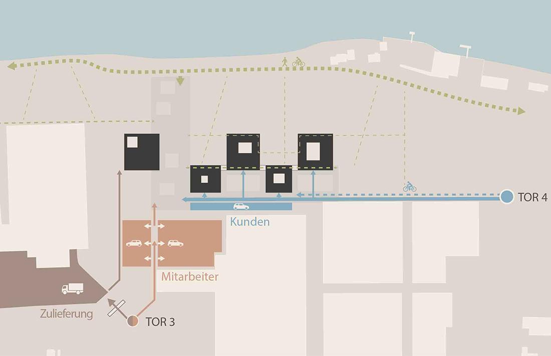 04_BUD-Erschliessung_SWAP Architekten/ Riebenbauer Design/ Raumposition/ el:ch landschaftsarchitekten/ B+G Ingenieure/ EWT Ingenieure