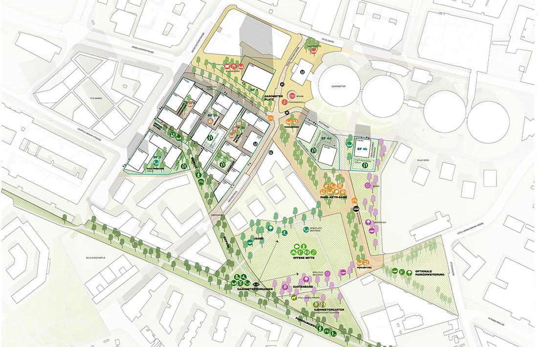 11_Gasometervorfeld-Freiraumkonzept_Garla Lo Landschaftsarchitektur/BWM Architekten